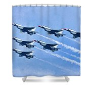 Cleveland National Air Show - Air Force Thunderbirds - 1 Shower Curtain