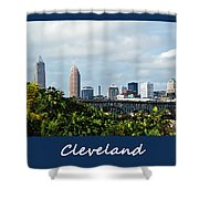 Cleveland Poster Shower Curtain
