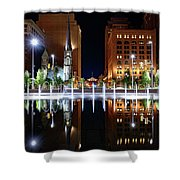 Cleveland Public Square Fountains Shower Curtain