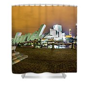 Cleveland Sign At Voinovich Park Shower Curtain