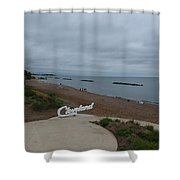 Cleveland Sign Shower Curtain