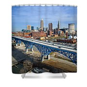 Cleveland Skyline #1 Shower Curtain