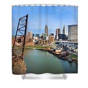 Cleveland Skyline #2 Shower Curtain