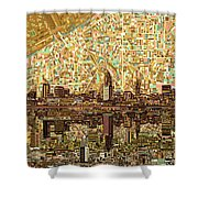 Cleveland Skyline Abstract 6 Shower Curtain