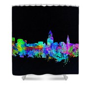Cleveland Skyline Watercolor 3 Shower Curtain