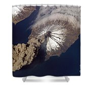 Cleveland Volcano, Iss Image Shower Curtain