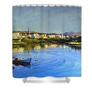 Clifden Harbour Shower Curtain