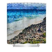 Cliff And Water Shower Curtain