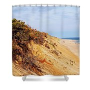 Cliff At Marconi Beach Shower Curtain