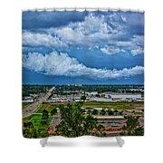 Cliff Avenue Storm Clouds Shower Curtain
