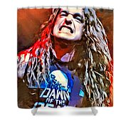 Cliff Burton Portrait Shower Curtain