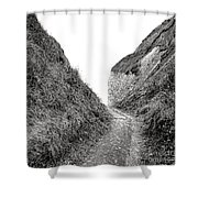 Cliff Cleavage Shower Curtain