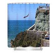 Cliff Divers Shower Curtain