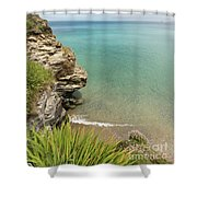 Cliff Edge At St Agnes Shower Curtain