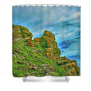 Cliff #h0 Shower Curtain