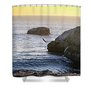 Cliff Jumping To Surf Shower Curtain