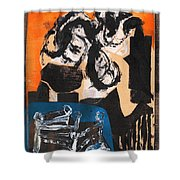 Cliff Master Bed 3 Shower Curtain