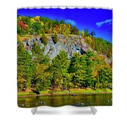 Cliff Of Color Shower Curtain