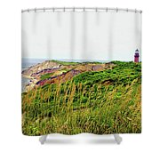 Cliff Off The Shores Of Martha Vineyard Shower Curtain