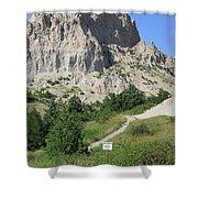 Cliff Shelf Trail In Badlands National Park South Dakota Shower Curtain