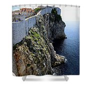 Cliff Top Walls Of Dubrovnik Shower Curtain