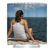 Cliff View Shower Curtain