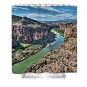 Cliff View Of Big Bend Texas National Park And Rio Grande  Shower Curtain