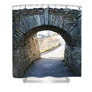 Cliff Walk Bridge Shower Curtain
