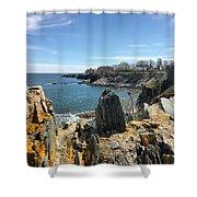 Cliff Walk View Shower Curtain