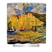 Cliffs 1883 Shower Curtain