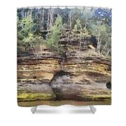 Cliffs At The Dells Shower Curtain