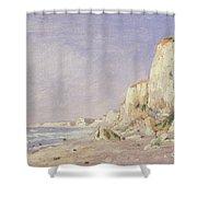 Cliffs Near Dieppe Shower Curtain