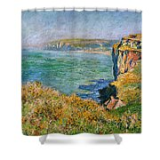 Cliffs Near Pourville Shower Curtain