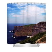 Cliffs Of Moher Aill Na Searrach Ireland Shower Curtain by Teresa Mucha