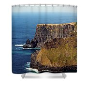Cliffs Of Moher Ireland View Of Aill Na Searrach Shower Curtain