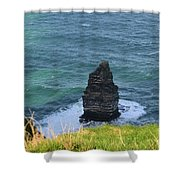 Cliff's Of Moher Needle Rock Formation In Ireland Shower Curtain