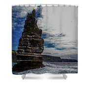 Cliffs Of Moher Stack Shower Curtain