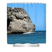Cliffs On The Beach Dominican Republic  Shower Curtain