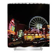 Clifton Hill At Night Shower Curtain