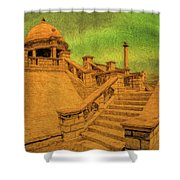 Clifton Monument At Jehangir Kothari Parade Shower Curtain