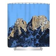 Climbers Sunlit Challenge Shower Curtain