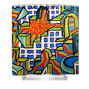 Climbing Abstractly  Shower Curtain