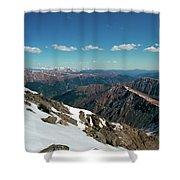 Climbing Greys Peak Shower Curtain
