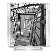 Climbing Stairs Shower Curtain