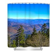Clingmans Dome Panorama Shower Curtain