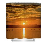 Clinton Sunset 1 Shower Curtain