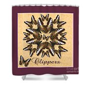 Clipper Butterfly Pin Wheel Shower Curtain