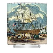 Clipper: Flying Cloud, 1851 Shower Curtain