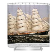 Clipper Ship, 1875 Shower Curtain