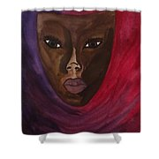 Cloaked Or Mask Shower Curtain
